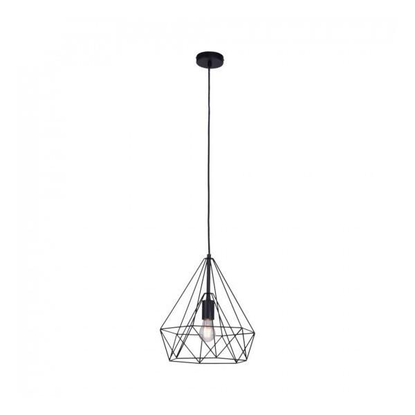 Metal wire pendant lamp