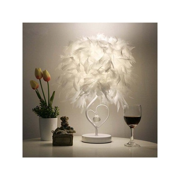 Feather Crystal Table Lamp
